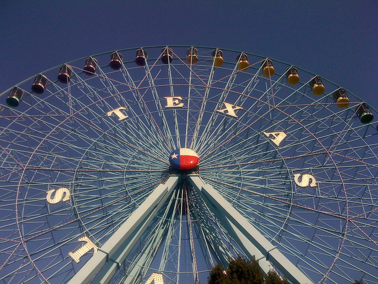 Texas used to have the largest Ferris wheel in North America. At 212 feet tall, the Texas Star dominates the fair grounds at the Texas State Fair in Dallas.